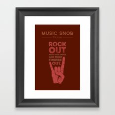 Rock Out — Music Snob … Framed Art Print