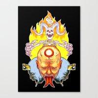 Dead Vision Serpent Canvas Print