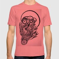 Skull Mens Fitted Tee Pomegranate SMALL