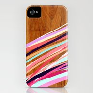 Wooden Waves Coral iPhone (4, 4s) Slim Case