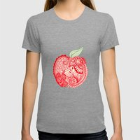 An Apple A Day... Womens Fitted Tee Tri-Grey SMALL