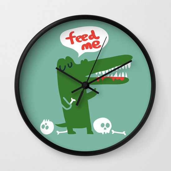 Hungry Hungry Alligator Wall Clock