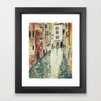 Venice in watercolour Framed Art Print