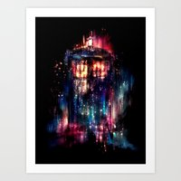 rainbow Art Prints featuring All of Time and Space by Alice X. Zhang