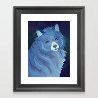 Celestial Wolf Framed Art Print