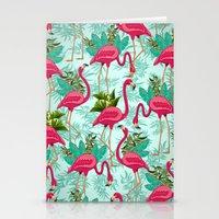 Pink Flamingos Exotic Birds Stationery Cards