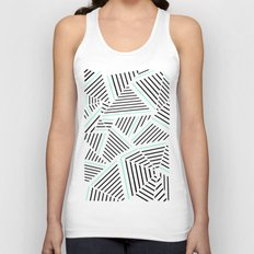 Ab Linear Zoom With Mint Unisex Tank Top