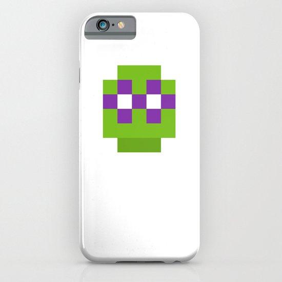 hero pixel green purple iPhone & iPod Case