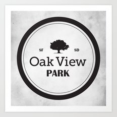 Oak View Park Art Print