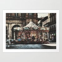 The Carousel II Art Print