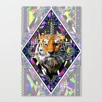 Trippin' Tiger Canvas Print
