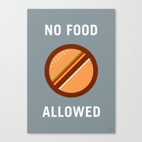 No Food Allowed Canvas Print