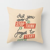 Ever Stop Throw Pillow