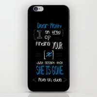 Dear Math (blue)  iPhone & iPod Skin