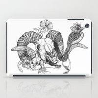 The ramskull and bird iPad Case