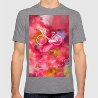 Hello Spring  Mens Fitted Tee Tri-Grey SMALL