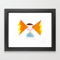 Visions Of Radness Framed Art Print