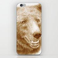 Brown Bear Is Happy iPhone & iPod Skin