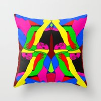Boxed Gymnast Throw Pillow