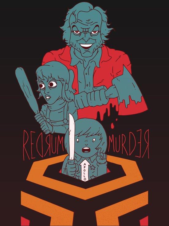 REDRUM//MURDER Art Print
