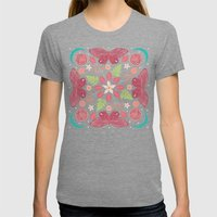 Secret Garden Womens Fitted Tee Tri-Grey SMALL