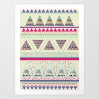 aztec Art Prints featuring Aztec by ALT + CO
