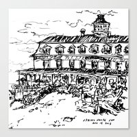 Spring House Inn, Block … Canvas Print