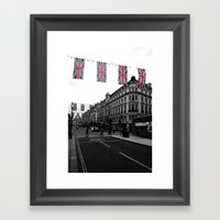 Buses And Bunting, Black… Framed Art Print