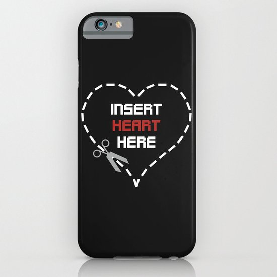 Insert Heart Here iPhone & iPod Case