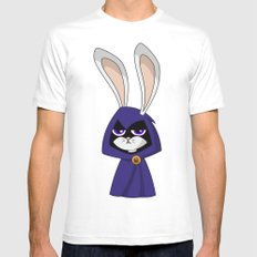 Bunny Raven White Mens Fitted Tee SMALL
