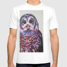 Something like an Owl White Mens Fitted Tee SMALL