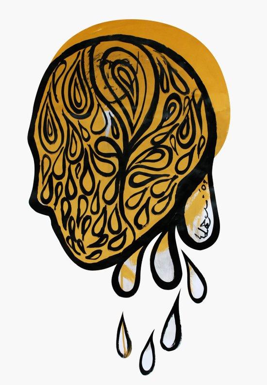 Drops fall Canvas Print