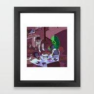 Framed Art Print featuring Ouija by Dqhantom