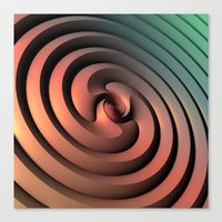 Spiraling One Canvas Print