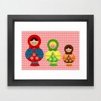 Matrioskas (Russian Doll… Framed Art Print