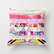 Pastel Abstract Floral A… Throw Pillow