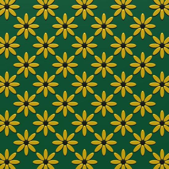 Yellow Flowers on Green Field Art Print