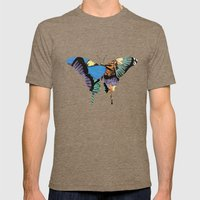 Butterflies Mens Fitted Tee Tri-Coffee SMALL