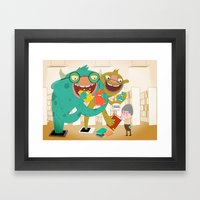E-book Monsters! Framed Art Print