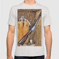 Winchester Rifle Mens Fitted Tee Silver SMALL