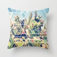 Throw Pillow featuring Cactus by 9000things