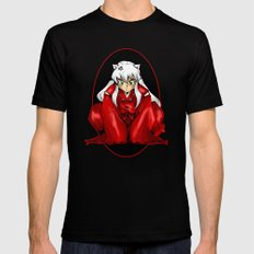 Inuyasha Mens Fitted Tee Black SMALL
