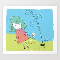 un poco cada día Art Print