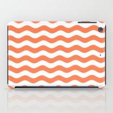 Wavy Stripes (Coral/White) iPad Case