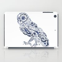 Folk Floral Indigo Owl iPad Case