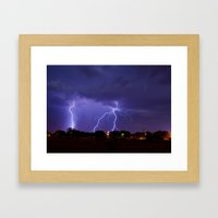 New Mexico Lightning Framed Art Print