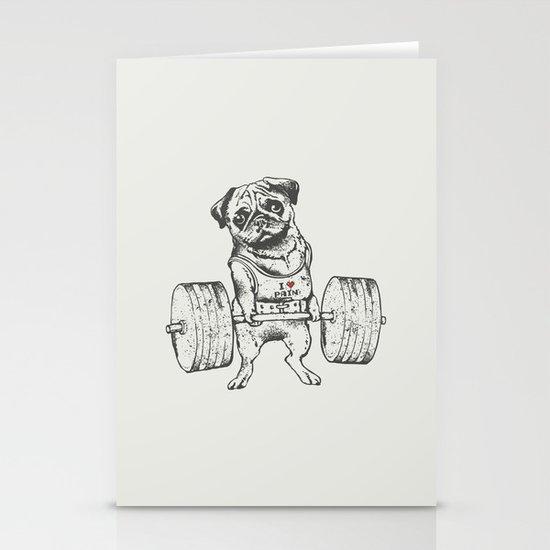 Pug Lift Stationery Card