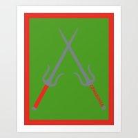 Cowabunga (Raphael Version) Art Print