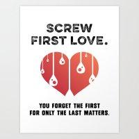 First Love [BLACK] Art Print