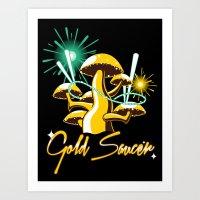 Gold Saucer Art Print